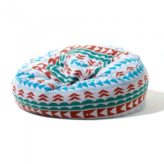 THIS WAY THAT BEEN BAG pouf turquoise tiger