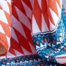 Plaid ARAVALLI DIAMOND - rouge orange