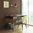 CEDRIC desk brown leather