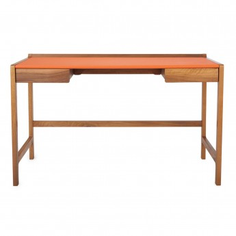 Bureau CEDRIC cuir orange