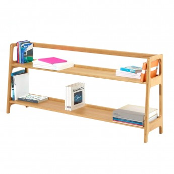 AGNES long shelving unit oak