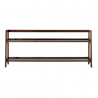 AGNES long shelving unit walnut