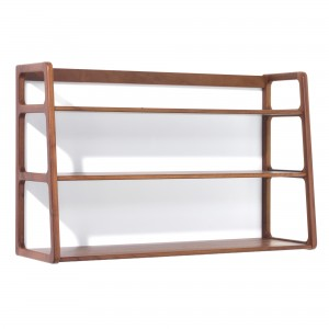 AGNES wall mounted shelves walnut