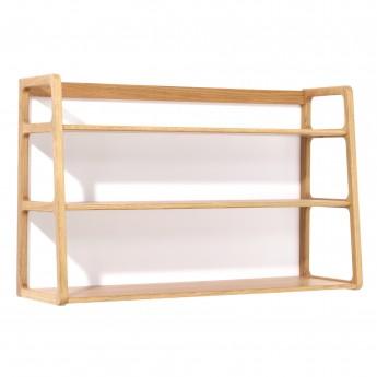 AGNES wall mounted shelves oak