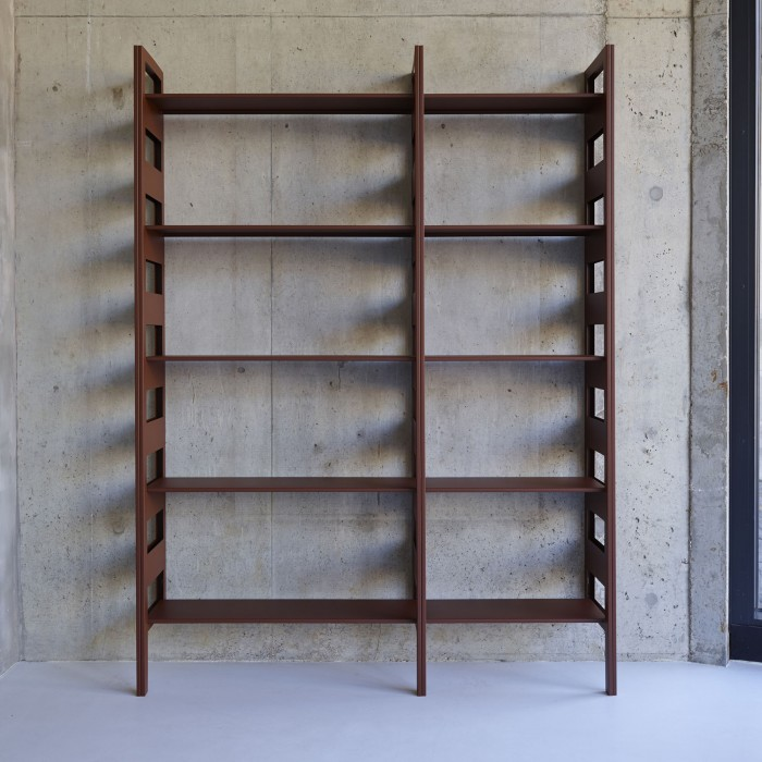 PARALLEL shelving system rust option 2