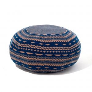 ERNEST pouf STITCH blue