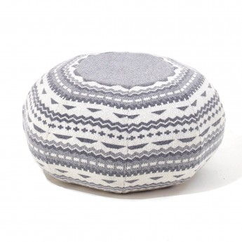 ERNEST pouf STITCH grey