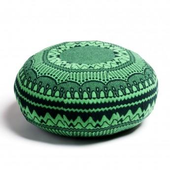 ERNEST pouf green ZIG ZAG