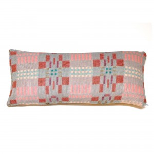 Coussin rectangulaire BORA pink slate reverse