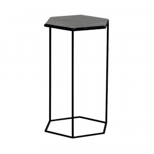 HEXXED black marble table