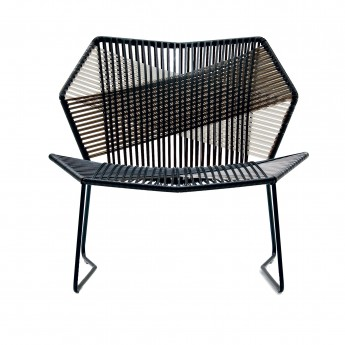 TROPICALIA low armchair black