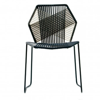 TROPICALIA chair black/white