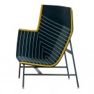 PAPER PLANES high armchair blue crystal
