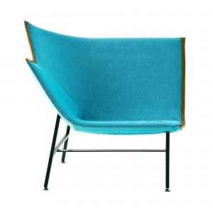 PAPER PLANES low armchair turquoise