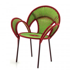 BANJOOLI armchair green/red