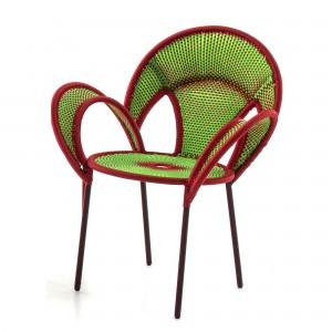 Fauteuil BANJOOLI vert/rouge