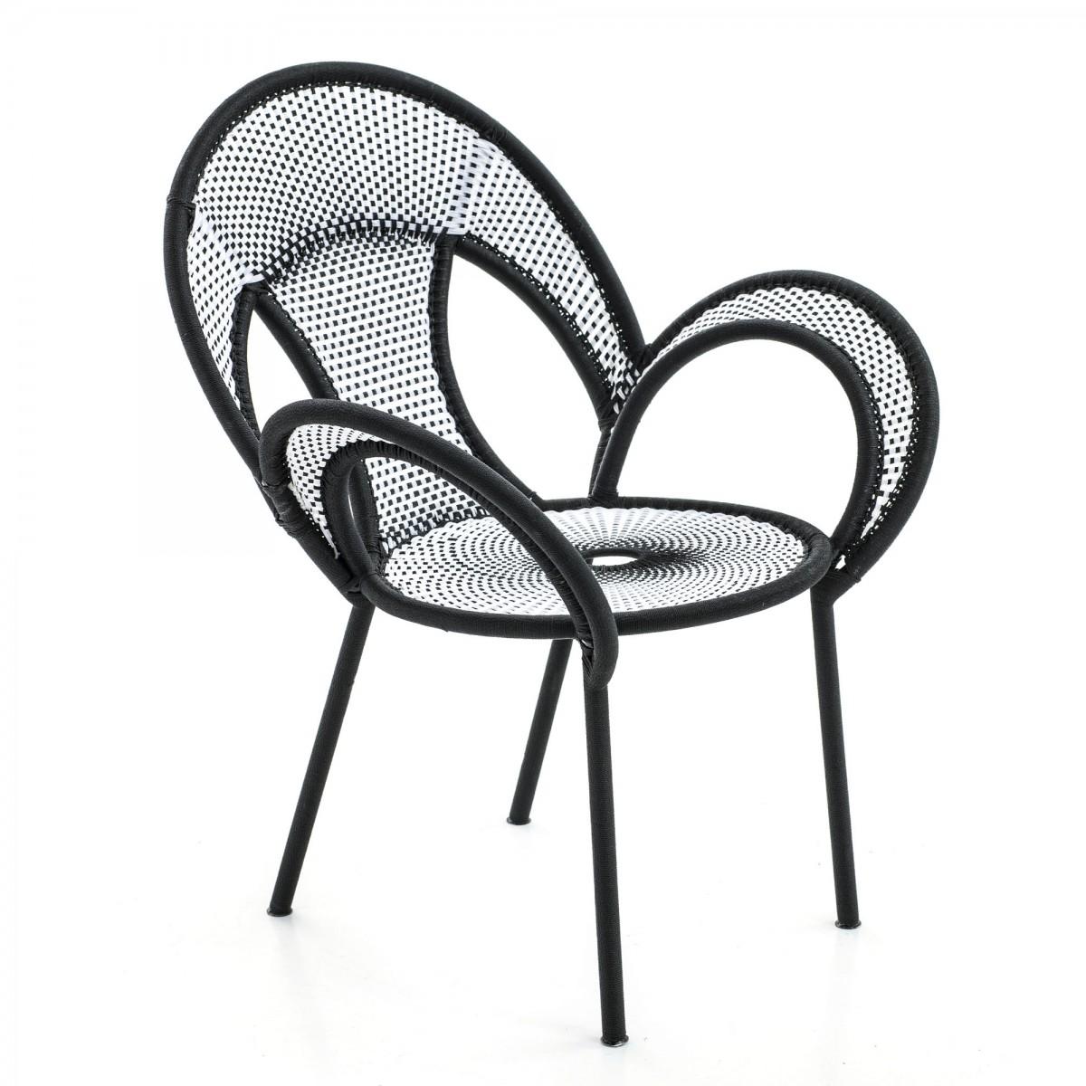 banjooli armchair black and white moroso. Black Bedroom Furniture Sets. Home Design Ideas