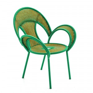 BANJOOLI armchair green/yellow