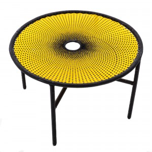 BANJOOLI coffee table L yellow/black
