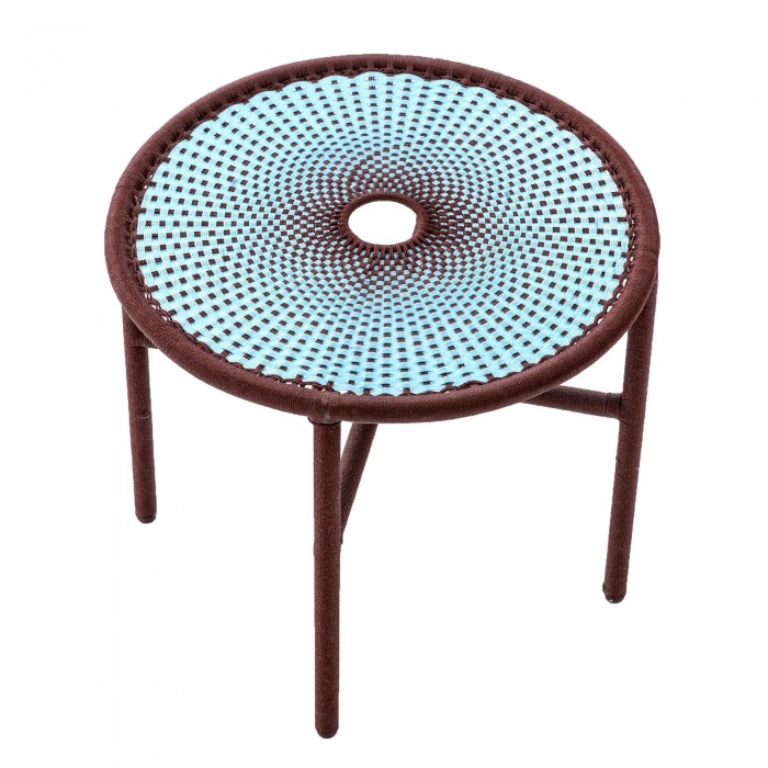 BANJOOLI coffee table S turquoise/brown