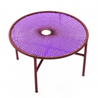 Table basse BANJOOLI L violet/marron