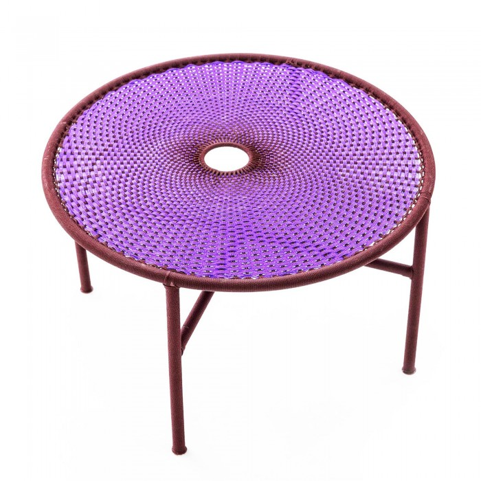 BANJOOLI coffee table L purple/brown