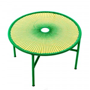 BANJOOLI coffee table L yellow/green