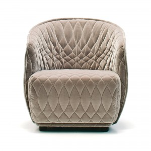 REDONDO small armchair brown