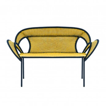BANJOOLI sofa yellow/black