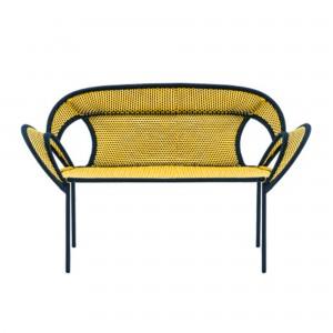 BANJOOLI sofa yellow/black