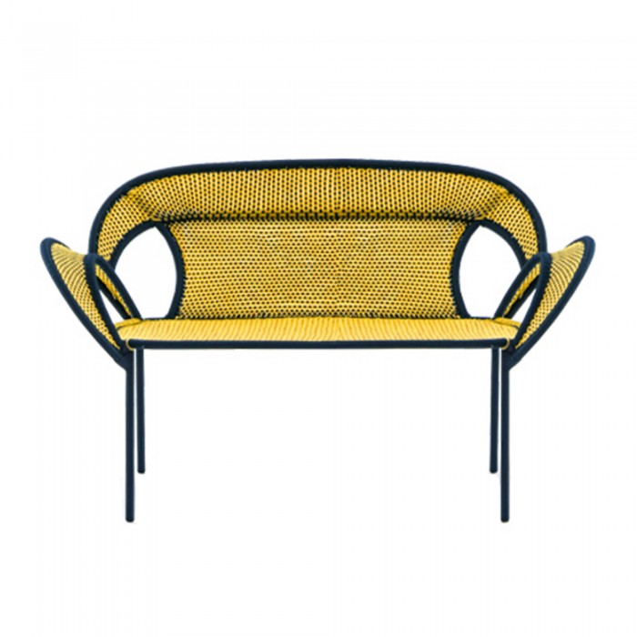 Canapé BANJOOLI jaune/noir