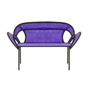 BANJOOLI sofa purple/brown