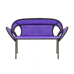 BANJOOLI sofa purple/brown