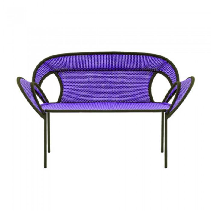 Canapé BANJOOLI violet/marron