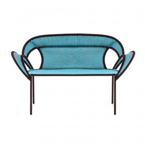 BANJOOLI sofa blue/brown