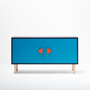 INVADER sideboard blue