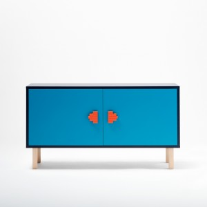 INVADER sideboard blue S