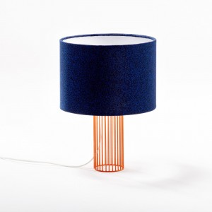 Lampe MAGIC tissu galaxy bleu