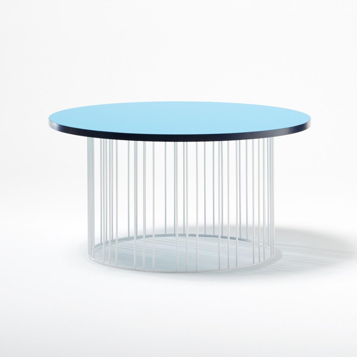 table basse circus bleu colonel. Black Bedroom Furniture Sets. Home Design Ideas