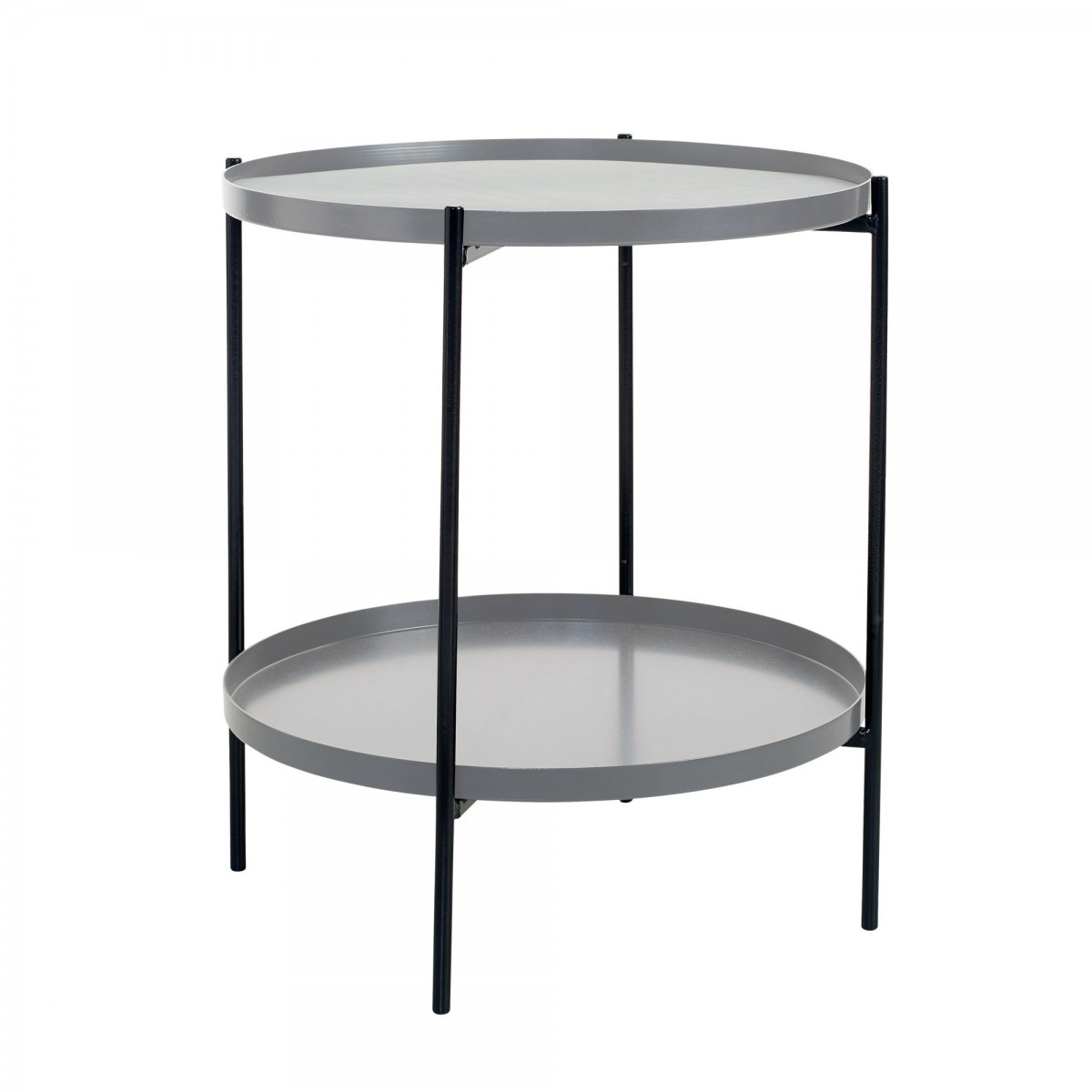 Table d 39 appoint tray s gris bolia for Table d appoint lit