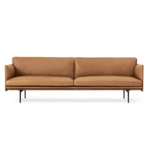 OUTLINE 3 seaters sofa - Cognac Leather