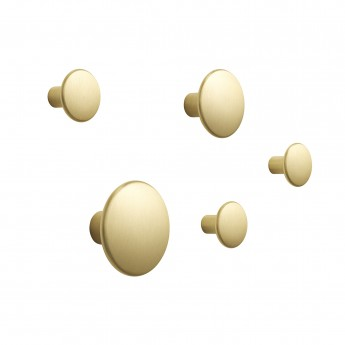 Brass hooks set DOTS
