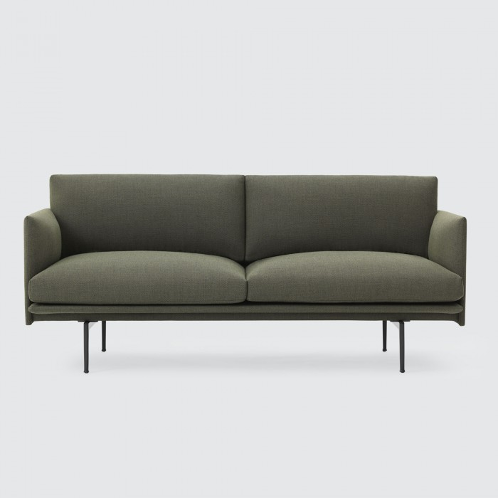 OUTLINE 2 seaters sofa - Fiord 691