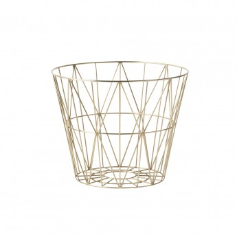 WIRE S basket brass