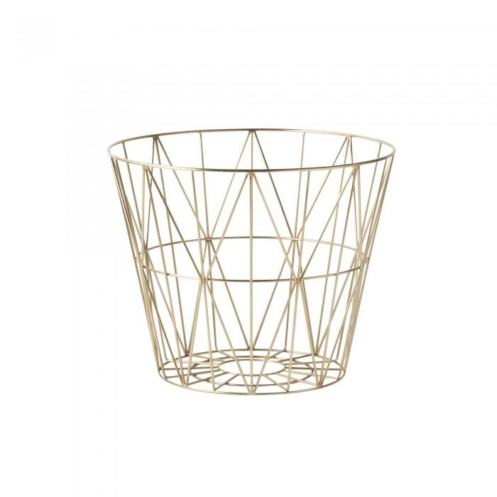 WIRE S basket brass