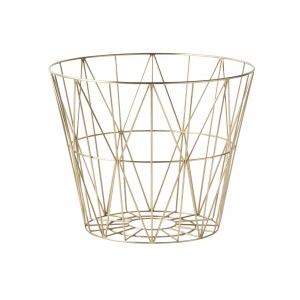 WIRE M basket brass