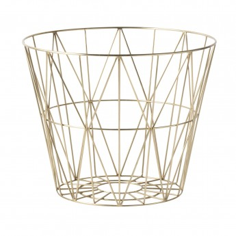 WIRE L basket brass