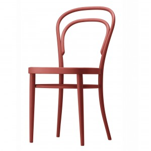 214 coffee house chair rust red