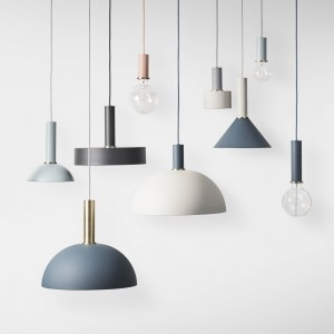 COLLECT pendant light grey dome