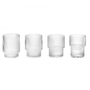 Set de 4 verres RIPPLE